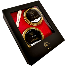 Coffret Caviar Beluga 50 gr + Baeri 50 gr